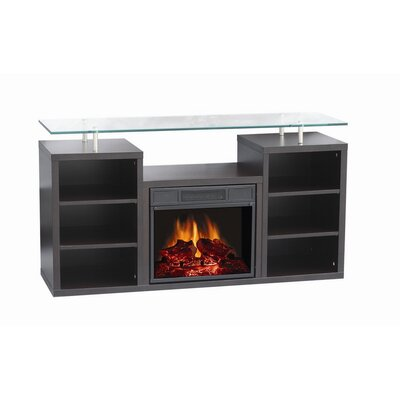 "World Marketing Manhattan 51"" TV Stand with Electric Fireplace"