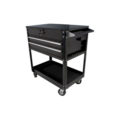 Sunex Black 2 Drawer Service Cart