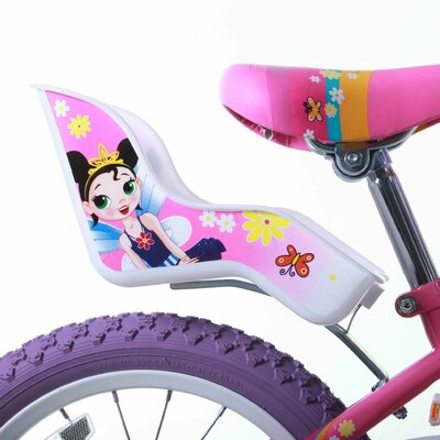 "Titan Girls 16"" Flower Princess Pink and White BMX Bike with Training Wheels"