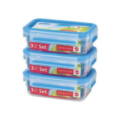 Frieling Emsa 3D Food Storage 3 Piece 18.5 fl oz Clip and Close Container Set