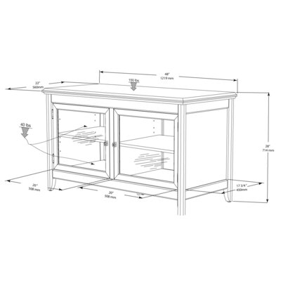 Tech-Craft Hi-Boy 48' TV Stand