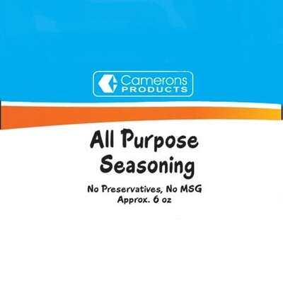 Camerons All Purpose Seasoning (7.5 Oz Gross, 6.2 Oz Net)
