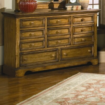 American Woodcrafters Eagles Nest Triple 8 Drawer Dresser