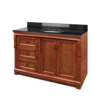 "Pegasus Naples 48"" Bathroom Vanity with Left Drawers in Warm Cinnamon"