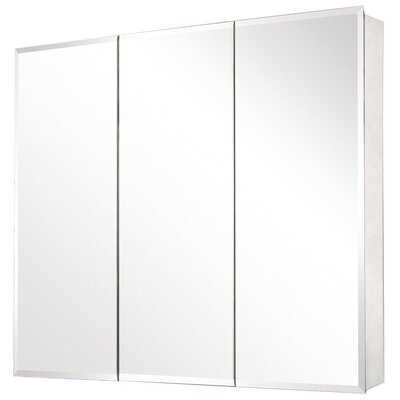 Pegasus Tri-View Beveled Mirrored Medicine Cabinet