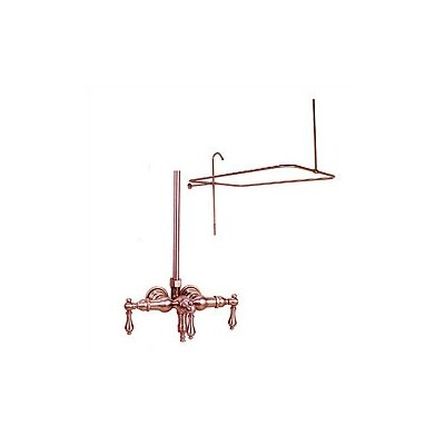 Elizabethan Classics Wall Mount Tub Faucet with Metal Lever Handles