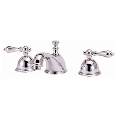 Widespread Bathroom Faucet with Double Metal Lever Handles - WS01