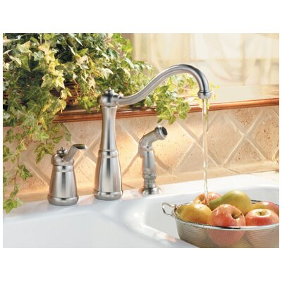 Price Pfister Marielle One Handle Widespread High Arc Kitchen Faucet with Side Spray