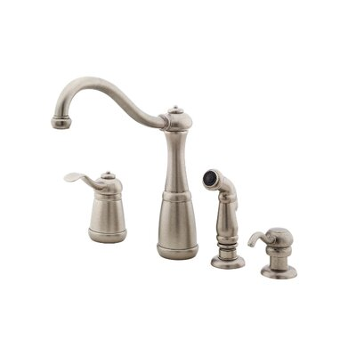 price pfister marielle one handle widespread kitchen faucet with