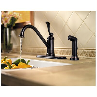 Price Pfister Portland One Handle Kitchen Faucet with Sidespray