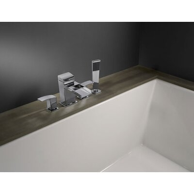 Price Pfister Kenzo 4-Hole Roman Tub Trim with Handheld Shower and Valve Kit