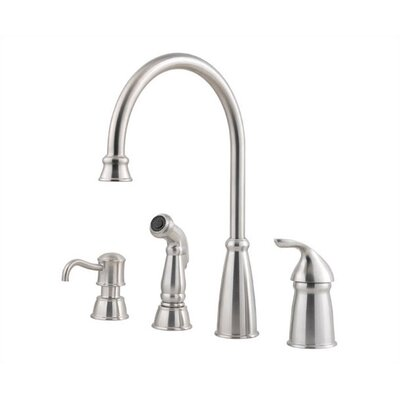 Price Pfister Avalon One Handle Widespread Kitchen Faucet with Side Spray