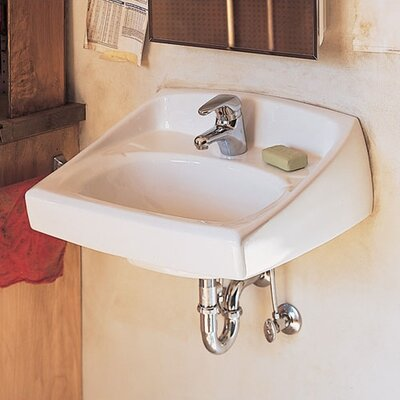American Standard Lucerne Wall Mount Sink with Center Hole for Wall Hanger or Concealed Arms