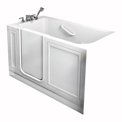 "American Standard ACrylic 26"" x 51"" Walk-In Combo Massage Bath Tub with Drain in White"