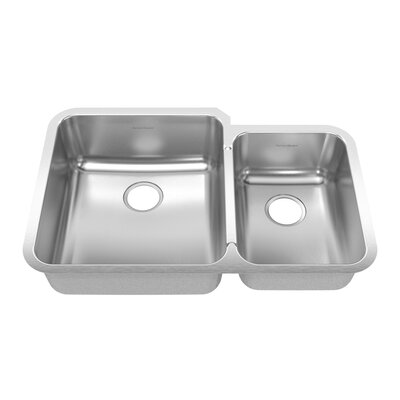 "American Standard Stainless Steel Undermount 32.88"" x 21.50"" Double Combination Bowl kitchen sink"