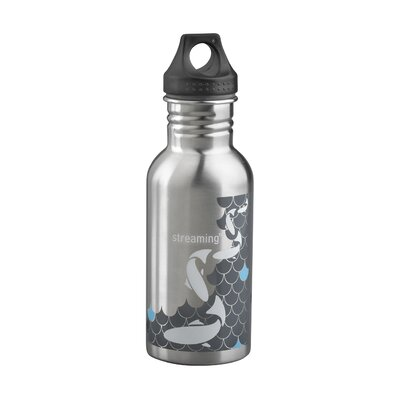 Streaming Water Bottle 16.9oz, 500mL, Stainless Steel