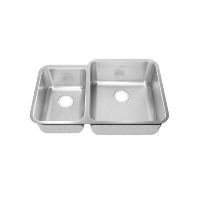 "American Standard Prevoir 38"" x 25.25"" Undermount Double Combination with Small Bowl Kitchen Sink"