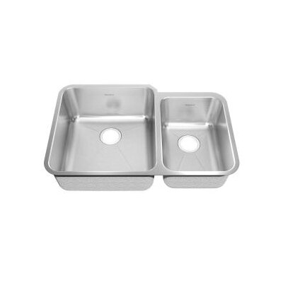 "American Standard 10"" Stainless Steel Undermount Double Combination with Small Bowl kitchen sink"