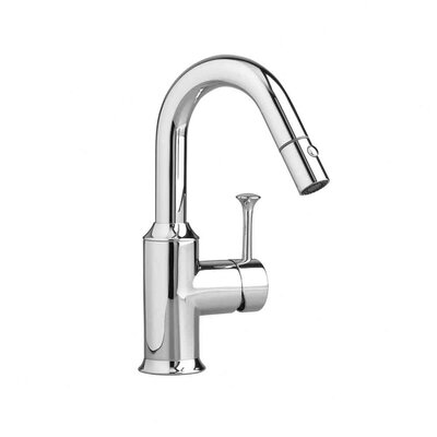 American Standard Pekoe Single Handle Single Hole Hi Flow Pull Down kitchenFaucet with Pull Out Spray
