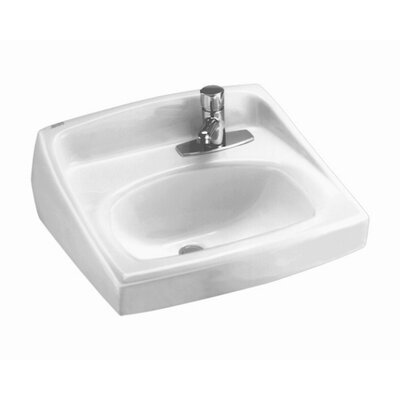 American Standard Lucerne Wall Mounted Bathroom Sink with Single Faucet Hole