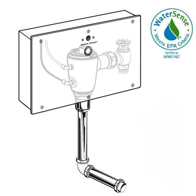 "American Standard Concealed Urinal Flush Valve with 0.75"" Back Spud"