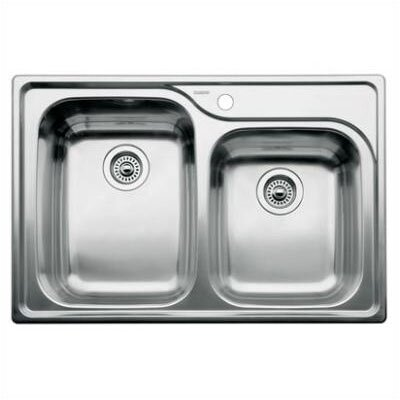 "Blanco Supreme 33"" x 22"" x 10"" Bowl Drop-In Kitchen Sink"