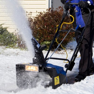 "Snow Joe 18"" Electric Snow Thrower with Halogen Light"