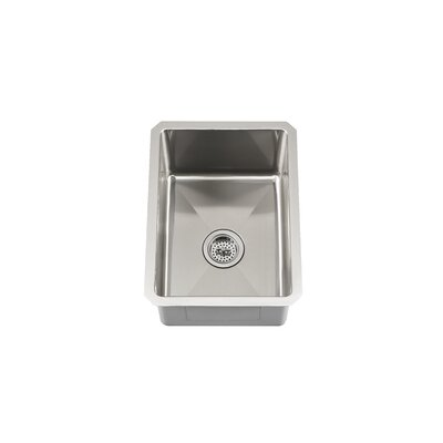 "Schon 13"" x 17"" Single Bowl Zero Radius Bar Sink"