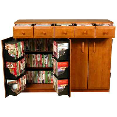 Venture Horizon VHZ Entertainment Multimedia Cabinet with Library Style Drawers