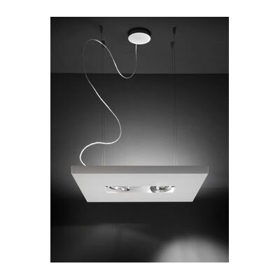 Studio Italia Design Zen-V Suspension in White Polished Glass