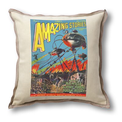Museum of Robots Classic Sci-fi Illustration Amazing Stories Pillow Cover - War of the Worlds ...
