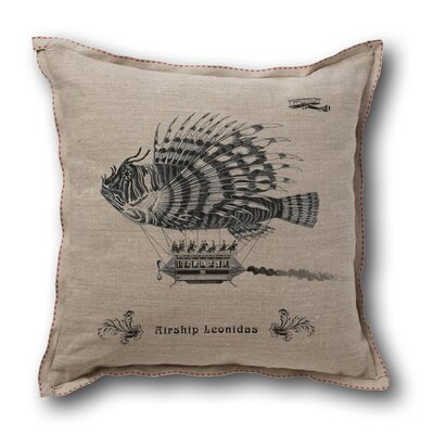 Museum of Robots Retro-Futuristic Artifacts Airship Leonidas Pillow Cover