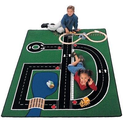 Carpets for Kids Theme Neighborhood Road Kids Rug