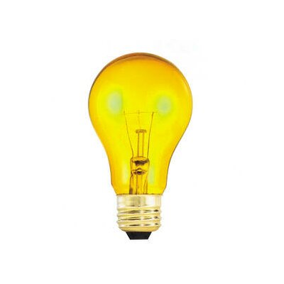 Bulbrite Industries 25W Transparent A19 Incandescent Bulb in Yellow