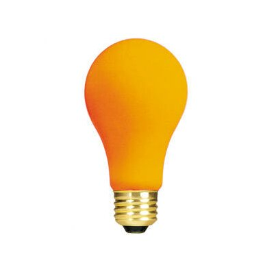 Bulbrite Industries 60W Ceramic A19 Incandescent Bulb in Orange