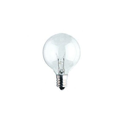 Bulbrite Industries 15W Krystal Touch G16 Globe Chandelier Bulb in Bright White
