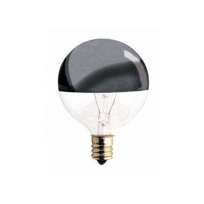 Bulbrite Industries 40W Half Chrome G16.5 Globe Shape Bulb