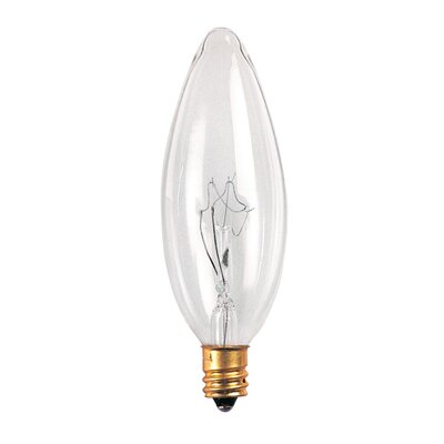 Bulbrite Industries 15W Incandescent Torpedo Chandelier Bulb in Clear