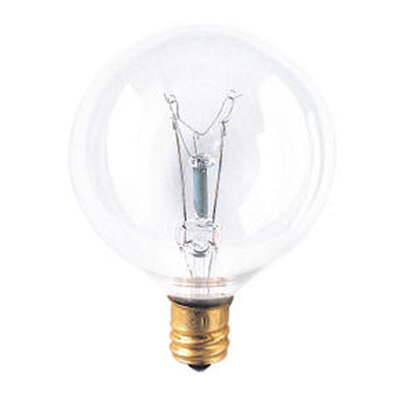 Bulbrite Industries G16 Globe Candelabra Incandescent Bulb