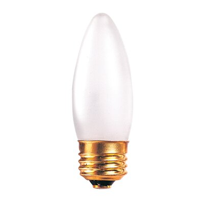 Bulbrite Industries 40W Incandescent Torpedo Chandelier Bulb with E26 Base in Frost
