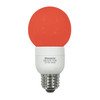Bulbrite Industries 1W LED Decorative G19 Globe Color Changing Bulb