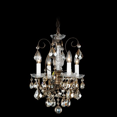Schonbek New Orleans 4 Light Mini Chandelier