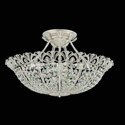 Schonbek Tiara 17 Light Semi Flush Mount