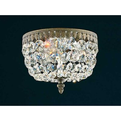 Schonbek Rialto 3 Light Flush Mount
