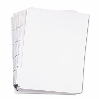 Kleer-Fax, Inc. 80000 Series Blank 1/5-Tab Divider Set, Letter, White, 25 Sets/Box