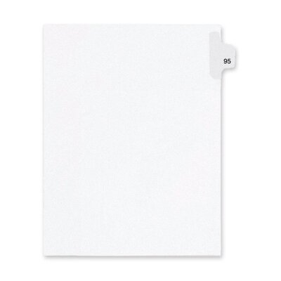 Kleer-Fax, Inc. Index Dividers,Number 95,Side Tab,1/25 Cut,Letter,25/PK,WE