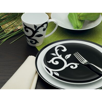 Kismet Black Dinnerware Set