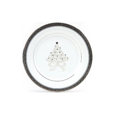 "Noritake Crestwood Platinum 9"" Holiday Accent Plate (Set of 4)"