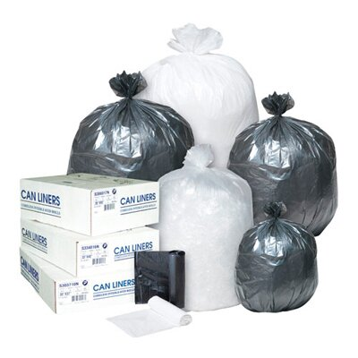 Inteplast Group 60 Gallon High Density Can Liner, 12 Micron in Clear, 25/Roll