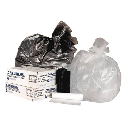 Inteplast Group 33 Gallon High Density Can Liner, 11 Micron Equivalent in Clear